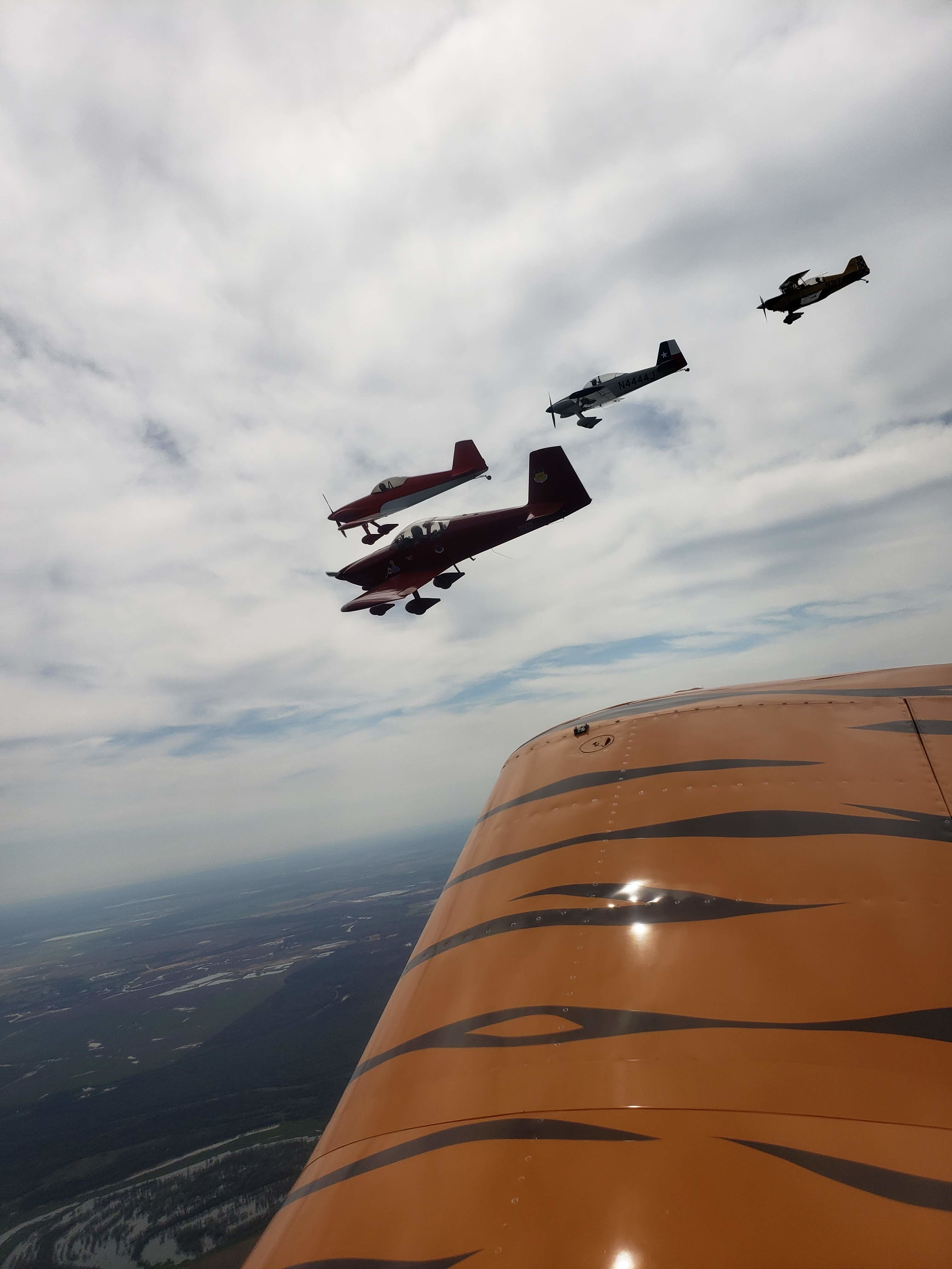 The View from Bloke's T-18 During Formation Maneuvering
